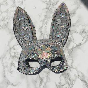 Bunny Rhinestone Mask